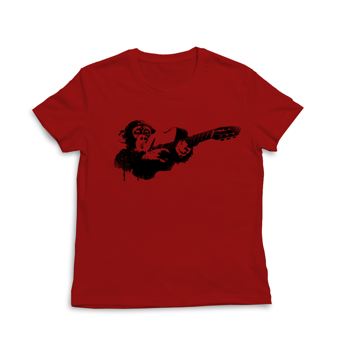 """Affe"" T-Shirts Herren/Damen (rot/schwarz) - € 20,-"