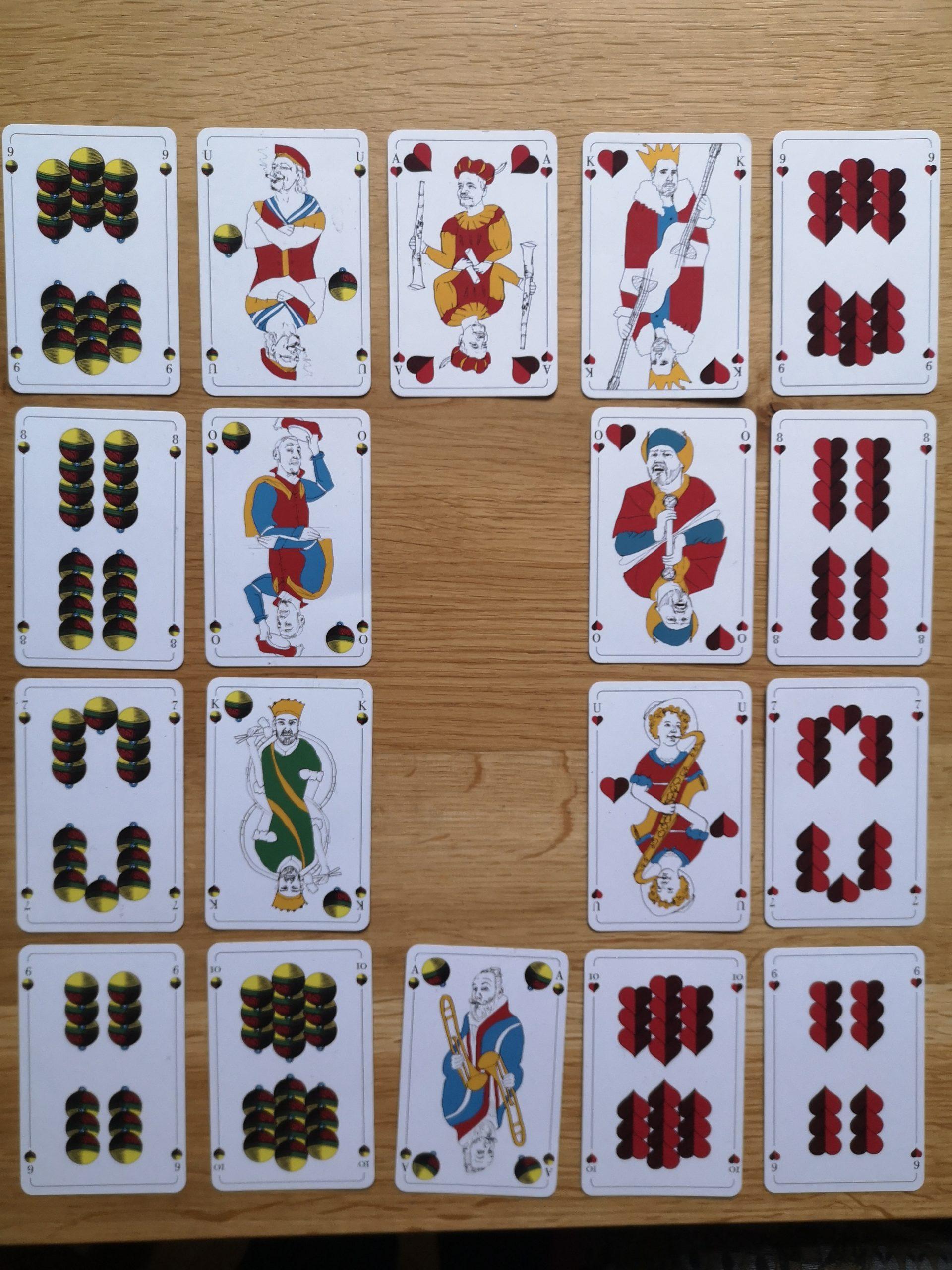 Spielkarten Gewürztraminer - € 10,-